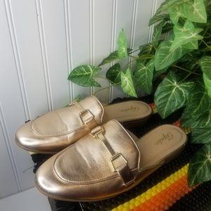 Women's Size 9 Paprika Rose Gold Slide Loafers